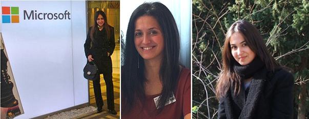 (Soldan sağa) : Gizem Gülbent- Sinem Gökçimen- Damla Şener