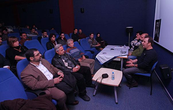 e  İranlı yönetmenler Mohammad Reza Arab, Mostafa Shayesteh, Bahram Tavakoli ve Rouhollah Hejazi öğrencilerle doğunun sinema anlayışı üzerine tartıştı.