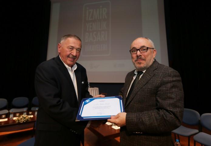 Dr.Ekber Onuk-Rektör Prof.Dr.Cemali Dinçer