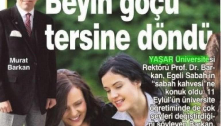 Sabah Ege – Rektör Prof. Dr. Murat Barkan söyleşi