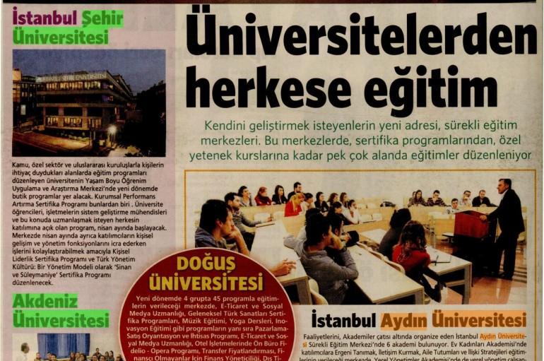 Milliyet Akademi Eki Türkiye Baskısında YÜSEM