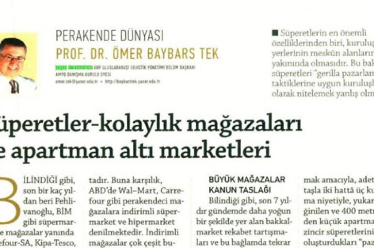 Prof.Dr. Ömer Baybars Tek- Perakande Dünyası
