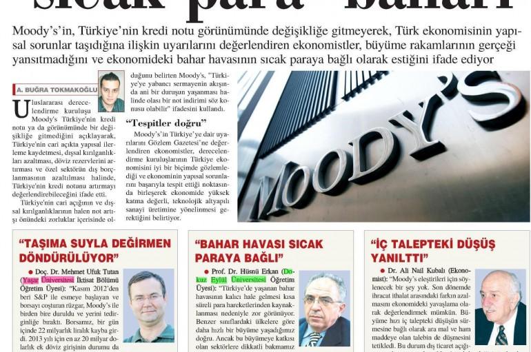 GÖZLEM Gazetesi- Türk ekonomisinde sıcak para baharı