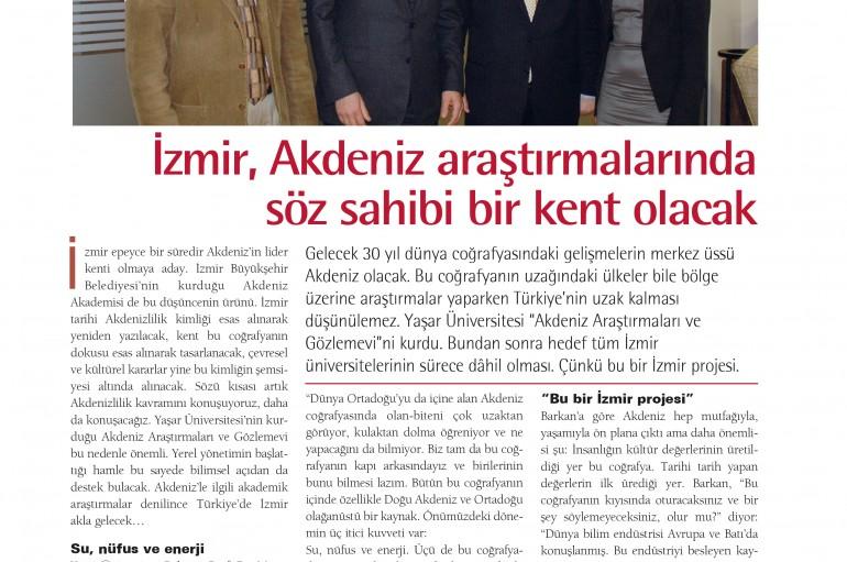İzmir, Akdeniz araştırmalarında söz sahibi bir kent olacak