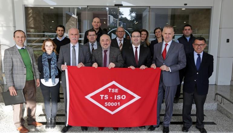 TS EN ISO 50001 belgeli ilk üniversite