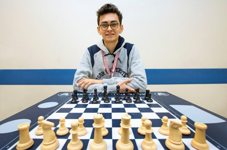The young master of chess