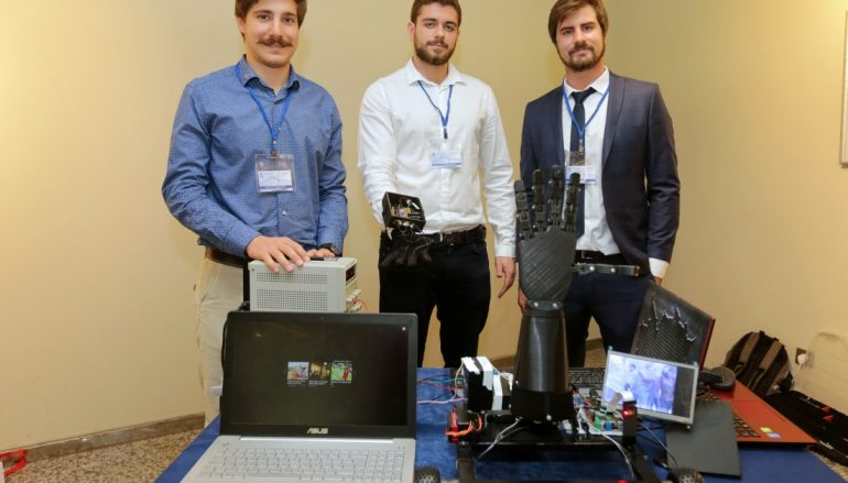 A robotic hand for bomb disposal developed by university students