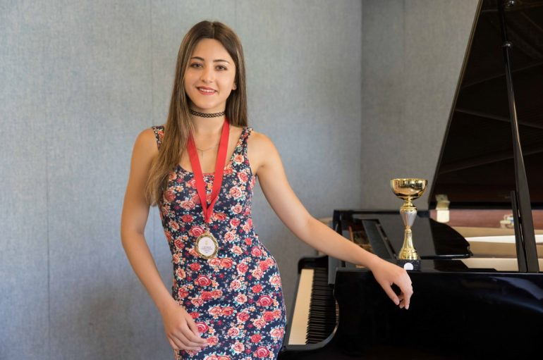 The young talent of piano