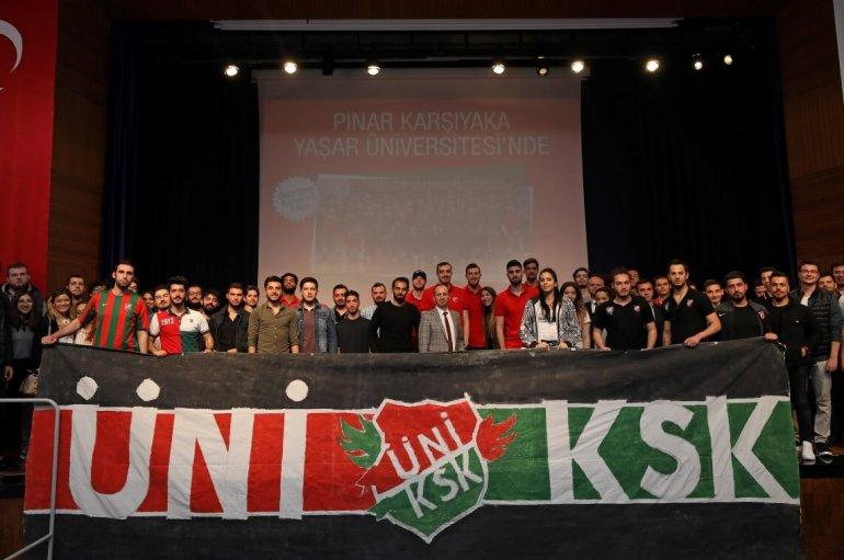 (Turkish) Pınar KSK'li Basketbolcular Öğrencilerle Buluştu